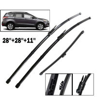 XUKEY Front Rear Windshield Wiper Blades Set For Ford Escape Fusion Mondeo Kuga