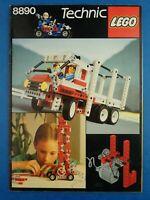 Vintage Booklet LEGO CATALOGUE Technic 1987 #8890 Instructions