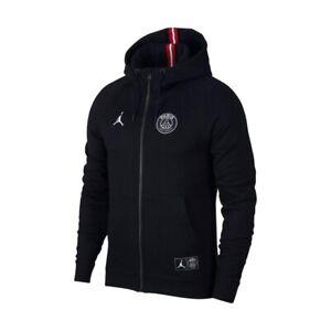 Nike Air Jordan Paris Saint Germain PSG Full Zip Hoodie Size Large BQ4195-010