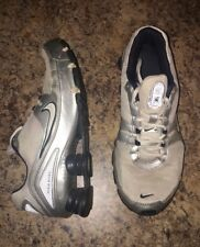 Vintage Nike Shox White Silver Mens Size 7.5  Track Cross Country CrossFit 2007