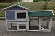 "Deluxe 58"" Wood Hen Chicken Rabbit Hutch Pet House Coop Cage w Run Large"