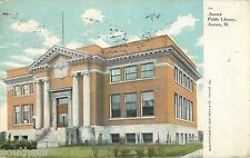 c1910 Aurora Public Library, Aurora, Illinois Postcard