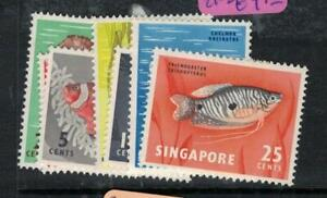 Singapore Fish SG 64-7, 69, 71-2 MOG (4eox)