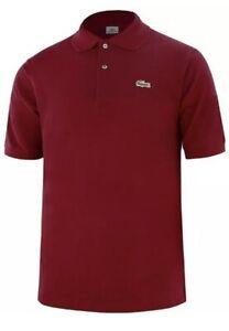 ✅ Lacoste Polo Shirt Herren Freizeit Polohemd SLIM Fit Bordeaux Rot M-XXL ✅