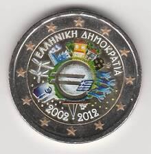 -- 2012A  2 EURO C0ULEUR GRECE -- 10 ANS DE L'EURO