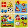 Enfant en bas âge intelligence développement animal brique puzzle jouetclassique