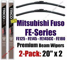 Wiper Blades 2-Pack Premium - fit 2009-2011 Mitsubishi Fuso FE-Series - 19200x2