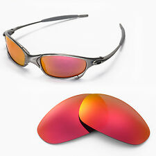 New Walleva Polarized Fire Red Replacement Lenses For Oakley Juliet Sunglasses