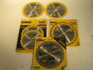 """6 Carbide 7 1/2"""" DeWalt Saw Blades 24 Teeth"""