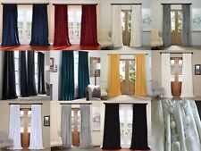 DESIGNER COTTON VELVET CURTAINS + TIE BACKS, HEAVY WEIGHT EYELET / PENCIL PLEAT