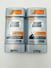2× Right Guard Xtreme Defense 5 Ocean Rush Antiperspirant 4 oz.
