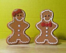 2012 Boston Warehouse Christmas Gingerbread Sugar & Spice Salt & Pepper shakers