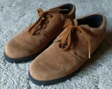 Lands End Tan Suede Leather Oxford Shoes Size 9.5 B