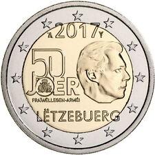 2 EURO LUXEMBOURG 2017 * DISPO * 50° ANNIV  DU SERVICE MILITAIRE VOLONTAIRE *UNC