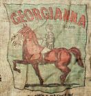 Georgianna Bakersfield CA Potato Burlap Sack Horse Primitive Rustic Wall Decor
