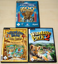 3 pc jeux collection zoo youlin-wildlife park Gold Edition-wildlife park 2