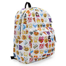 Emoji Backpack Travel Leisure Shoulder Bag Girls Boys Smiley Rucksack School Bag