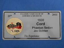 1930 CORD Phaeton Sedan Concours Brass Grille Medallion CCCA Gilmore Car Museum