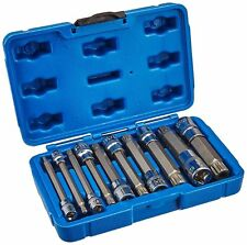 10 pc XZN Triple Square LONG Spline Socket Bit Set