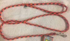 "Orange and Black Yellow Dog Design Round Braided Lead 3/8"" x 60"" Free Shipping"