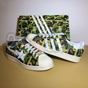 Brand New DS Adidas Superstar 80s ABC Camo x BAPE Size 10 GZ8981 Nigo Free Ship