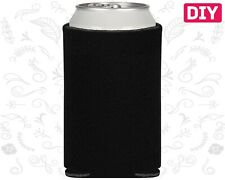 Blank Koozies 25 Black Coozies Lot Can Coolers Diy Embroidery Sublimation