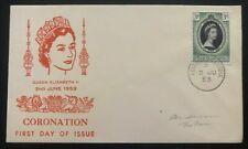 1953 Tristan Da Cuna QE2 Coronation First Day Cover Queen Elizabeth FDC Cachet
