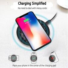 10w QI Fast Wireless Charger Acrylic Pad For Samsung  Apple Phone Xs Max *