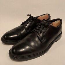 Alden Shell Cordovan Vintage Plain Toe Blucher Black Oxford Shoes Sz 10 D/B