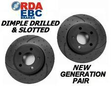 DRILLED & SLOTTED Alfa Romeo 156 2002 Onwords REAR Disc brake Rotors RDA7161D