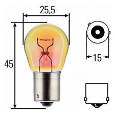 Indicator bulb | Amber Bulb PY21W 12v 21W | HELLA 8GA 006 841-121 Box of 10