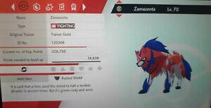 Zamazenta Legendary Competitve 6IV Max EVs Pokemon Sword Shield Rusted Shield