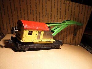 Vintage Lionel  2810 10 Ton Tin Plate Crane Car - Prewar #2810 O Gauge SEE PICS