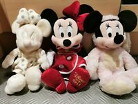 Disney Store Disney World Minnie Mouse Special Edition Soft Toy Plush Bundle