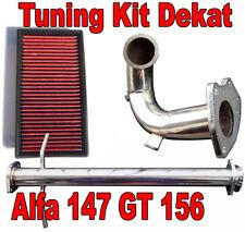 DOWNPIPE INOX + TUBO RIMOZIONE KAT ALFA 147 GT 1.9 115 150 170cv Filtro Sportivo