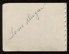Tom Dugan and Jacqueline Dalya Signed Album Page Autographed in 1944 Signature