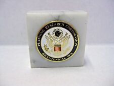 Prc Planning Research Corporation Bicentennial 1976 Marble Paperweight