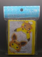 Pokemon center JAPAN - poncho Pikachu & Eevee card Deck Shields (64 Sleeves)