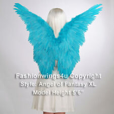 Blue Butterfly style costume feather wing Angel Fairy Marcaw Blu Jewel Cosplay