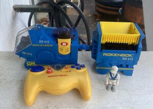 Rokenbok  ROK STAR Monorail Train RR 415 Complete + Key Controller Figure WORKS!