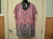 "AUTOGRAPH MIXED COLOUR ""PAISLEY"" SLEEVELESS TOP & CAMI SZ 26-NEW AUTOGRAPH"