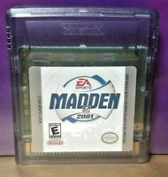 Madden NFL 2001 Football- Nintendo Game Boy Color GB Rare TESTED GBA Advance GBC