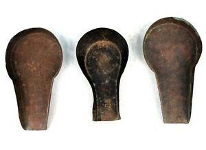Art African - Set Of 3 Excavators IN Weigh Powder Gold Akan - Goldweight - 14