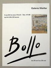 BOLLO Jacques Affiche originale Gal Weiller Paris MONACO NÎMES SOMMIÈRES Lhote