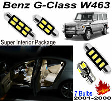 7pcs Super White 5630 LED Interior Light Kit For Benz G-Class W463 2001-2008