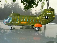 VINTAGE HELICOPTER TOY U.S. ARMY N 41312 LARGE BATTERY OPER.WORKS NO PROPPELERS