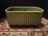 Haeger Rounded Rectangular Planter Bowl Green Vintage USA Made Pottery #225