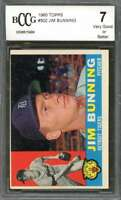 Jim Bunning Card 1960 Topps #502 Detroit Tigers BGS BCCG 7
