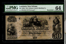 1850'S LOUISIANA $50 CANAL BANK OF  NEW ORLEANS