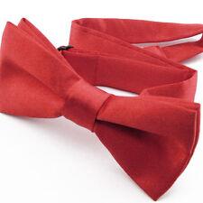 Noeud Papillon pour Enfant en Satin Rouge - Children Bow Tie Adjustable Red